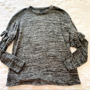 Mustard Seed Black Marled Knit Sweater